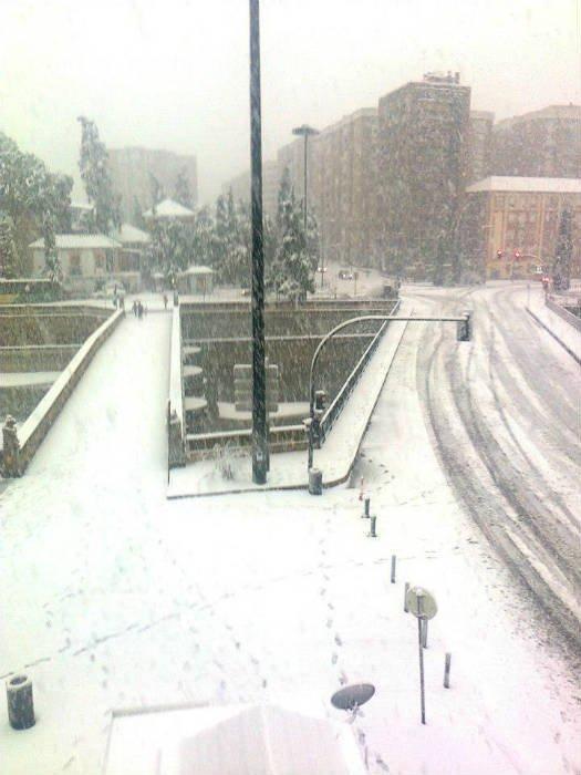 Nieve sobre el Puente Romano
