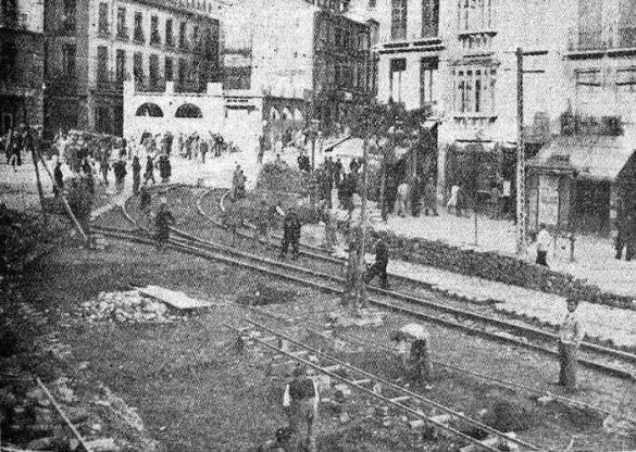 Obras en el Embovedado en noviembre de 1940
