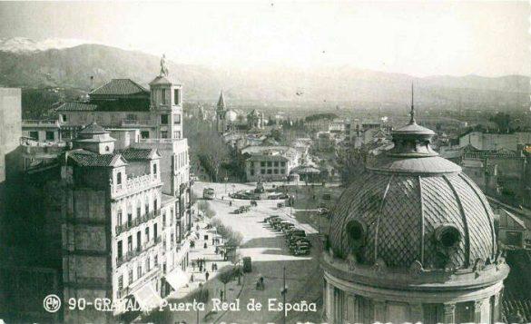 Panorámica de Puerta Real en 1952