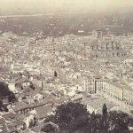 Panoramica del centro de la ciudad desde la Torre de la Vela, 1885-1890.