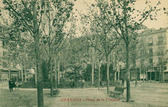 Plaza de la Trinidad hacia 1920....