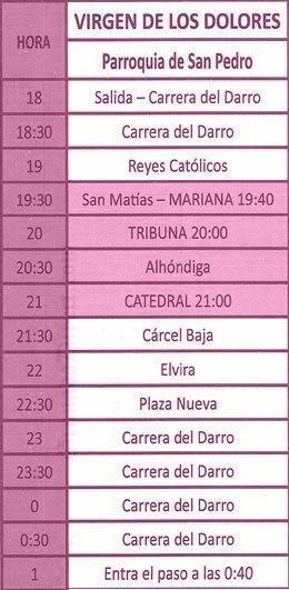 Lunes Santo Granada 2019 Virgen de los Dolores