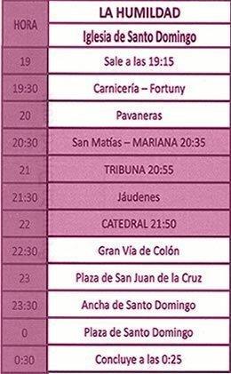 Martes Santo Granada 2019 La Humildad