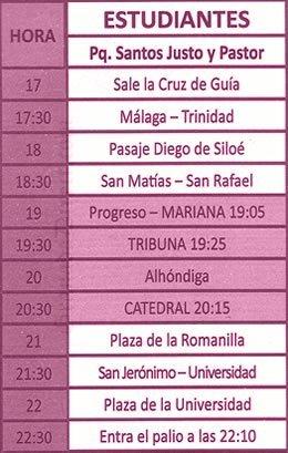 Miercoles Santo en Granada. Estudiantes