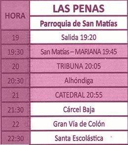 Miercoles Santo en Granada. Las Penas