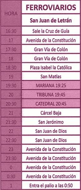Viernes Santo en Granada. Ferroviarios
