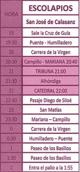 Viernes Santo en Granada. Los Escolapios