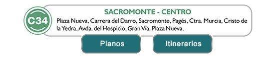 Linea C34 Sacromonte Centro Granada