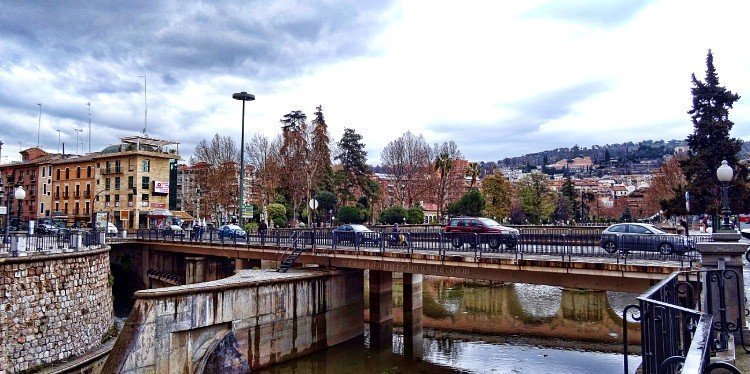 Vistas desde la zona del Puente Romano.
