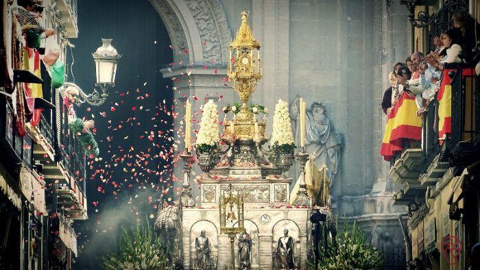 Salida del Corpus Christi de la Catedral de Granada. Foto de Pictourama