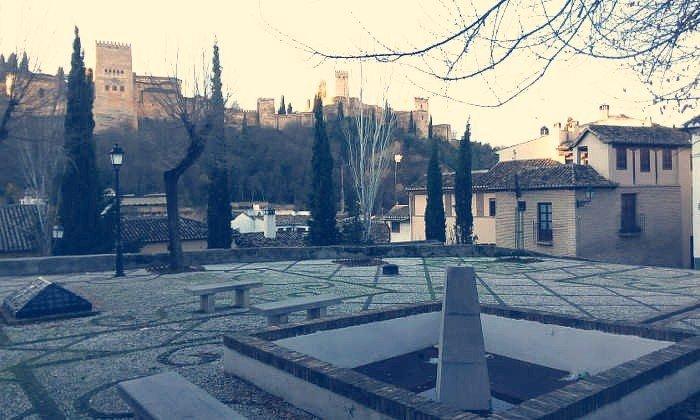 Plaza de la Victoria, en el Albaicín bajo