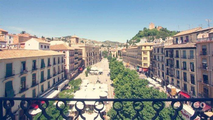 Vistas inéditas de Plaza Nueva y Santa Ana al fondo