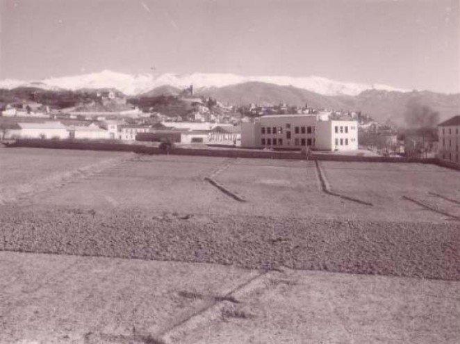 Solar donde se levantaría el primer campo de Granada Club de Fútbol