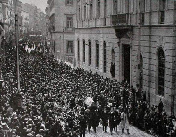 Los restos de Ángel Ganivet en Madrid