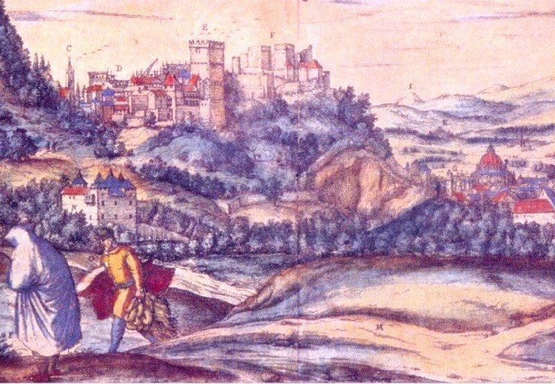 Grabado de Joris Hoefnagel, realizado en Granada en 1564