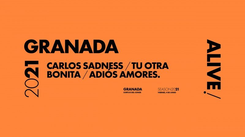 Carlos Sadness, Tu Otra Bonita y Adiós Amores en Granada Alive