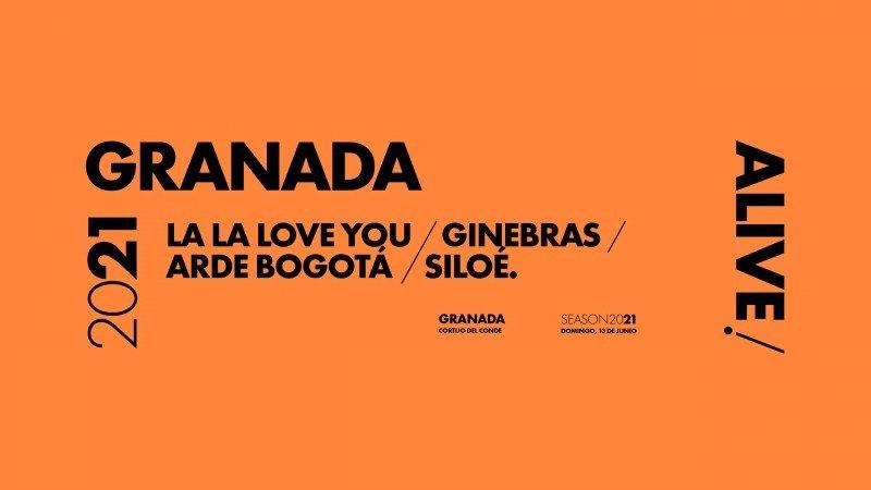 La La Love You, Ginebras, Arde Bogotá y Siloé en Granada Alive