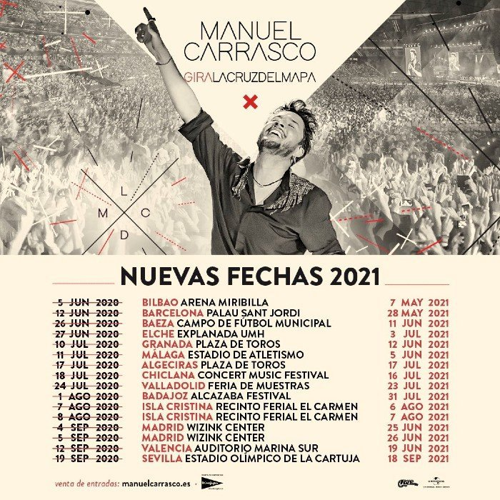 Manuel Carrasco en Granada. Gira La cruz del mapa 2021