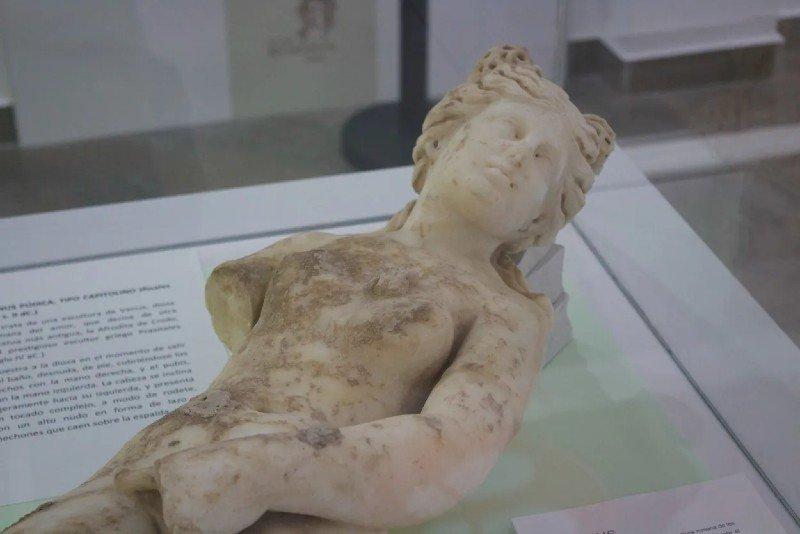 Esculturas recuperadas de la Villa Romana de Salar
