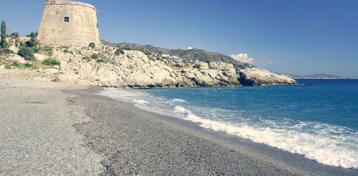 Playas de Almuñecar. Playa el Tesorillo, Almuñecar