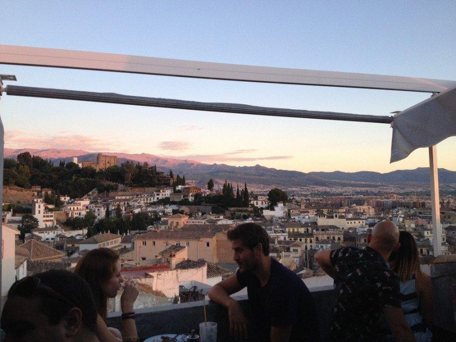 Vistas desde la terraza de la Teteria Abaco